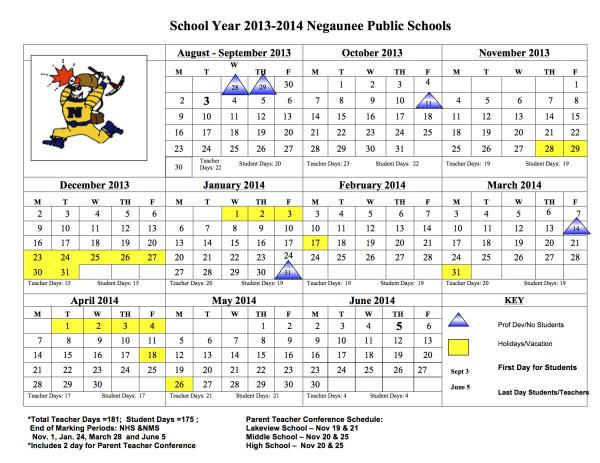 13-14 calendar